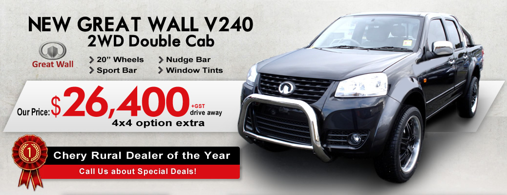 2013 Great Wall V240 - 4X4 Double Cab  - Our Price: $33925.00 drive away