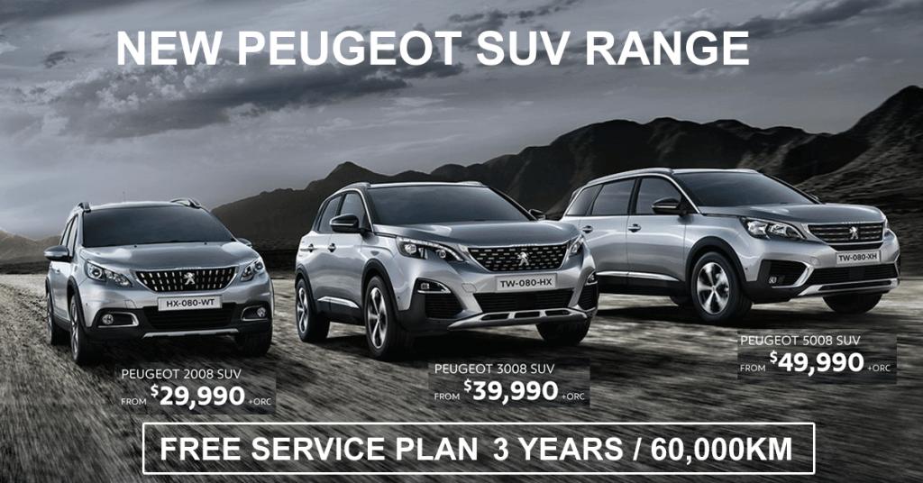 Peugeot SUV Range